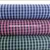 Cotton Yarn Dyed 100/2 Carbon Peached Check Fabric (LZ5011)