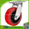 Heavy Duty PU Mold on Black Plastic Wheel