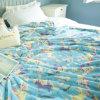 Custom Cheap Cartoon Travel Pillow Blanket and Blanket Set Fleece