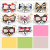 Design PU Leather Dog Collars Pet Bowtie Bandanas
