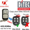 Ditec Duplicate Copy Remote 433MHz