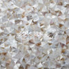 Freshwater Shell Mother Pearl Irregular Triangle Nature Brown Color Mosaic Tile
