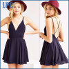 Chiffon Ladies Sexy V Neck Summer Dress