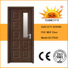 PVC Wood New Design Glass Door Interior (SC-P034)
