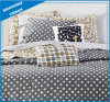 6 Piece Gray Dots Printed Polyester Comforter Set