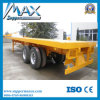 20 Feet 2 Axle Flat Bed Container Semitrailer
