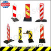 Road Safety Plastic Lane Separator with Rubber Base