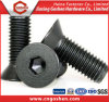 Black Hex Socket Flat Head Machine Screw DIN7991