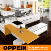 Oppein New Design Modern PVC Wood Grain Kitchen Cabinets (OP16-PVC03)