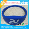 Chip Ntag213/Ultralight C Waterproof Silicone RFID Wristband with Factory Price