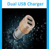 Mobile Phone Accessory Mini Dual USB Car Charger for RoHS Charger