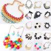 Popular Fancy Jewelry Sugar Color Rhinestone Necklace (JW-003)