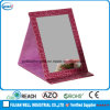 Pink Leather Folding Makeup Mirror