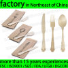 Disposable Wooden Cutlery, Knife Fork Spoon for Salad, Dessert, Chocolate