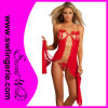 Woman Red Sexy Night Dress Gown