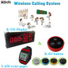 Popular Vibration LED Number Paging Set K-336+Y-650+D3 Cafe Button Paging System