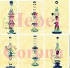 Flower Hitman Recycler Tobacco Tall Color Bowl Glass Craft Ashtray Glass Pipe Heady Beaker Bubbler Hand Corona Glazeglass Unique Oil Rigs Glass Big Pipe