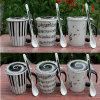 11oz New Black White Ceramic Musician Coffee Mug