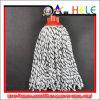 Cotton Yarn Round Mop, White Blue Mop