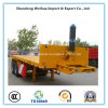 2 Axles Flatbed Container Trailer From China Manufacturer