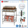 Square Chrome Metal Promotion Display Wire Rack for Store