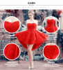 New Elegant Pink Chiffon Front Short Long Back Sweetheart Beaded Ruched Sleeveless Prom Dresses