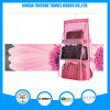 Transparent PVC and Non-Woven Pink Hanging Pocket Organizer Storage Bag