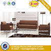 Modern Europe Design Steel Metal Leather Waiting Office Sofa (HX-S310)