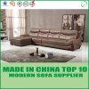 Luxury Villa Furniture Top L Shape Leather Upholstered Sofa