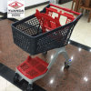 Cheap Price New Products All Plastic Supermarket Shopping Trolley Cart with High Quality