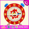 New Design Children Educational Toy Wooden Alarm Clock Puzzle W14k006
