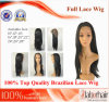 Brazilian Virgin Hair Full Lace Wigs (10Inch-Straight)