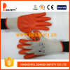 Ddsafety 2017 Cotton Knitted with Orange Latex Gloves
