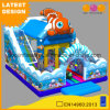 Ocean Theme Inflatable Bouncer Ball Pit Pool with Slide (AQ01745)