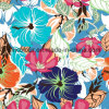 Fashion Floral Printed 80%Nylon 20%Spandex Warp Knitted Fabric for Ladies Swimwear