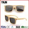 Ynjn Hand Polished Flat Top Square Polarized Bamboo Sunglasses