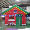 Inflatable Red House for Christmas Festival Decoration/Christmas Inflatable Bouncer House