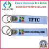 Fashion Polyester Logo Customzied Embroidered Navy Keychain