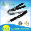 Promotion Flat Polyester Woven Jacquard Neck Lanyard with Label Logo No Minimum