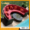2017 New Style Indoor/Outdoor Garden Patio Furniture Corner Round Combination Sofa Set