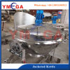 Full Stainless Steel 300 Liter Steam Industrial Jacketed Cooking Kettle