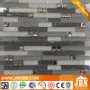 Frosted Grey and White Glass Mosaic for Wall Design (M855093)