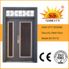 Sun City Exterior Steel Safety Door with Transom Window (SC-S112)