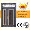 Sun City Exterior Steel Safety Door with Transom Window (SC-S112)