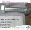 DIN603 DIN933 Grade 4.8 to 8.8 Carbon Steel Hot DIP Galvanized Hex Bolts and Nuts