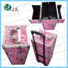 New Double Open Trolley Cosmetic Case with Trays