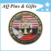 3D Military Challenge Coin with Gold + Nickel Plating