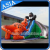 Inflatable Gorilla Kongo Crazy Fight with Dinosaur Giant Slide