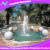 Pond Fountain with Marble of Water Spraying