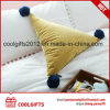 Hot Cute Plush Triangle POM POM Decorative Throw Pillow
